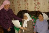 Поздравление со 100-летним юбилеем жительницы сельского поселения Алькино