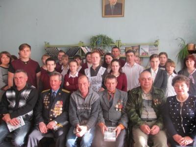 Встреча с ветеранами -афганцами посвященная  важной  дате – 15 февраля!