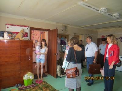 24 мая 2018 года - выездная комиссия с проверкой общежития по ул. Советская, д.6
