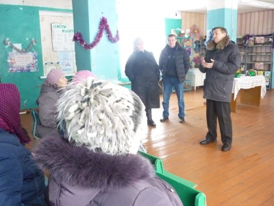 29/12/2018 встреча с населением с. Куликовка по вопросу отсыпки дороги