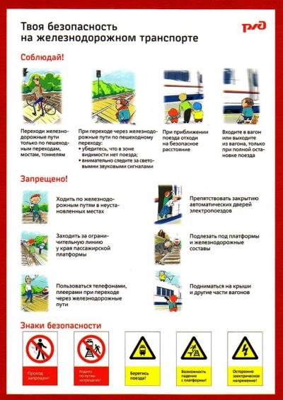Твоя безопасность на железнодорожном транспорте