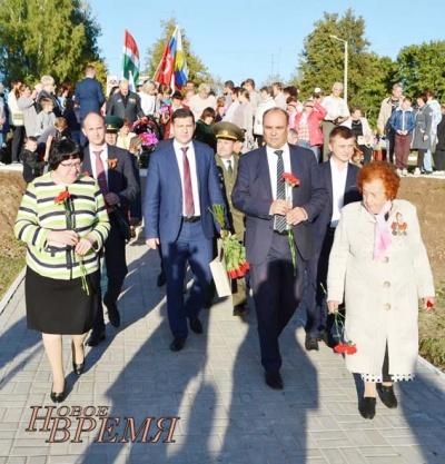 17 сентября в поселке Товарково был торжественно открыт Сквер Памяти