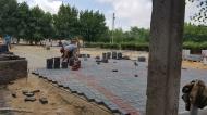 Работы по благоустройству парка набирают оборты