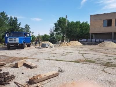 Начало работ по благоустройству парка в СДК Заливский