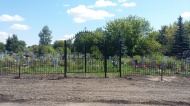 Благоустроили центральный вход на кладбище