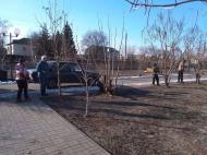 """Обрезка деревьев в парке """"Школьный"""""""