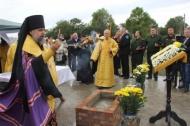 В станице Новониколаевской заложен камень нового храма