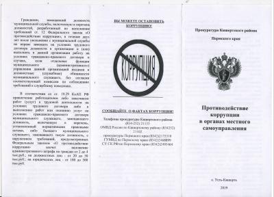 Противодействие коррупции в органах местного самоуправления