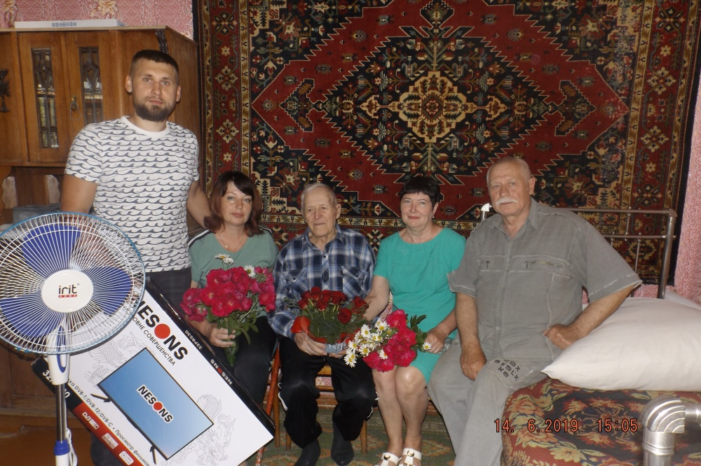 Поздравление ветерана Великой Отечественной войны с 95-летним  юбилеем!