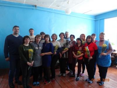 Работницы швейного цеха приняли поздравления
