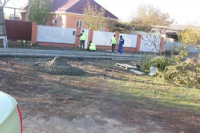 Строительство тротуара по ул. Кошевого