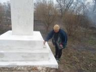 Субботник на территории обелиска в д. Дудкино