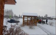 08/12/2018 Субботнее утро в с. Себино началось с прочистки дорог от снега