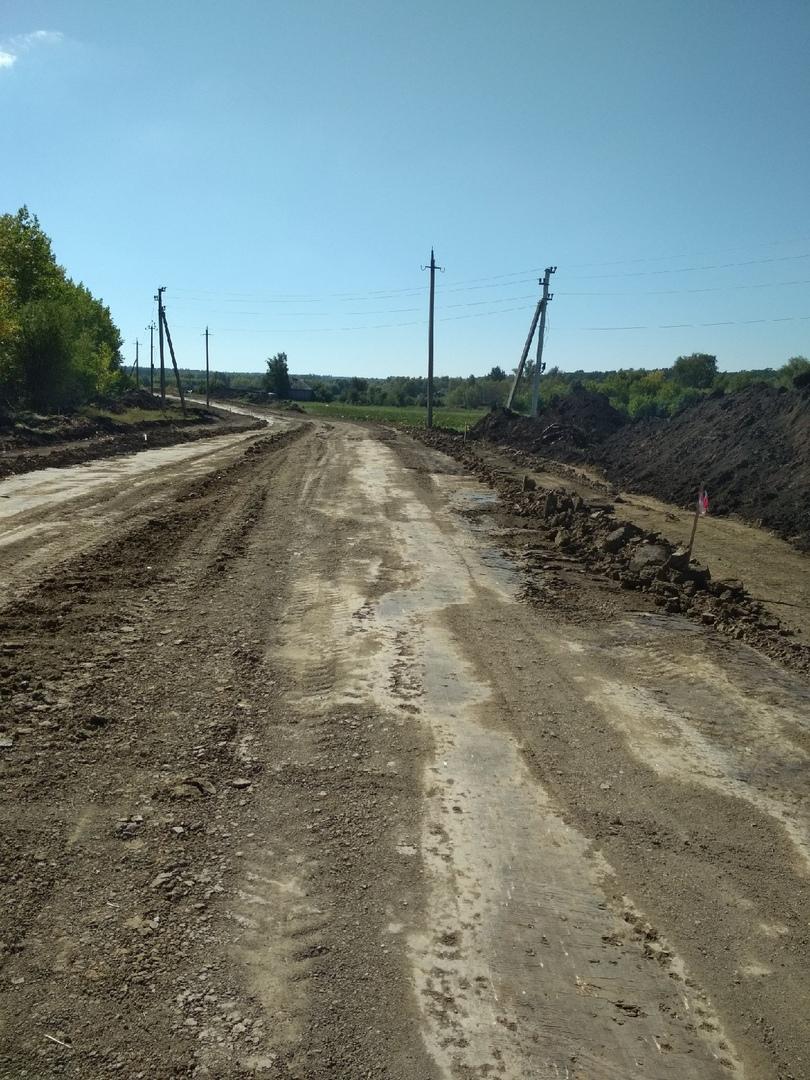 Начато строительство дороги в п. Берёзовка