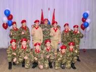 Юнармейский отряд «РУБИН» поздравил военный комиссариат с юбилейной датой 100 лет