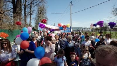 1 мая 2017 года делегация МО «Городское поселение «Поселок Товарково» приняла участие в праздничном первомайском шествии Дзержинского района, посвященном Дню весны и труда