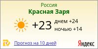Погода в Красной Заре