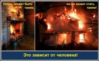 Памятка по пожарной безопасности  в осенне-зимний пожароопасный период