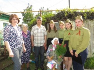 Поздравление ветерана ВОВ Крыштопина М.А. и вдов умерших ветеранов войны с праздником Победы!