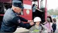 Липяговские ребята примерили форму спасателей