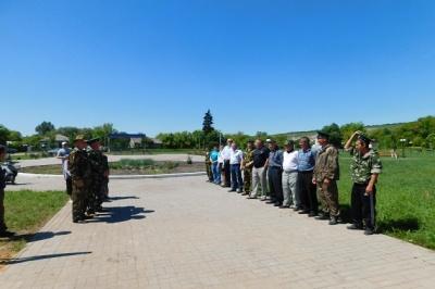 Торжественный митинг, посвящённый Дню пограничных войск.