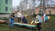 Субботник в поселке Новольвовск