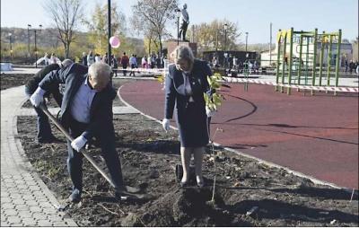 В селе  Русаново открыли парк отдыха