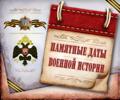 Памятные даты военной истории