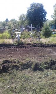 Начались работы по ограждению кладбища в с. Верхнее Турово.