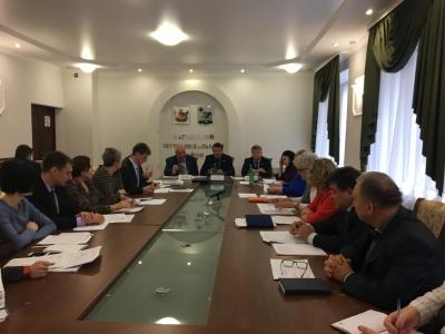 В малом зале администрации Каширского муниципального района состоялось еженедельное рабочее совещание при главе администрации Каширского муниципального района