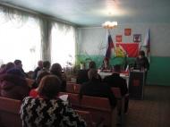 Заседание сессии Совета народных депутатов  Дерезовского сельского поселения
