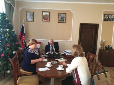 28 декабря 2018 года руководитель управления ЗАГС Воронежской области Марина Алексеевна  Севергина посетила Каширский муниципальный район