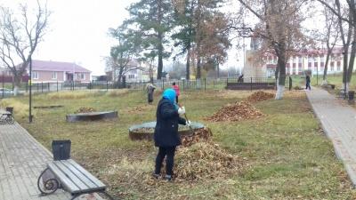 В селе Верхнее Турово прошел субботник.
