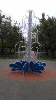 В  сквере с.Лещаное установлен светодиодный фонтан