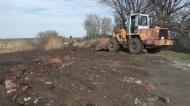 Отсыпка дороги камнем бут в п.Видный 18.04.2019 года