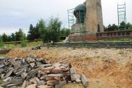 Работы по реставрации Памятника Павшим воинам односельчанам.