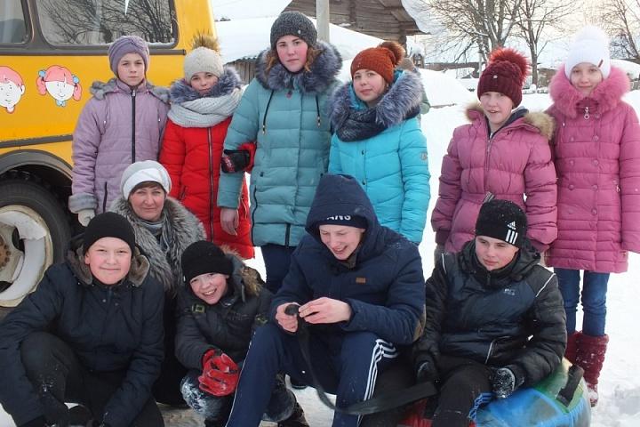 Школьники Верховской школы