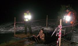 19 января. Крещение. Купель на озере Прорва