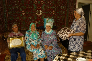 24 июня 2019 года поздравили с 90-летием жителя села Алькино.