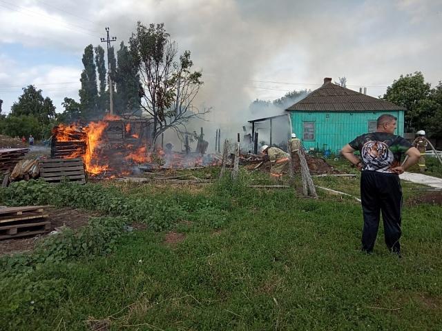 Пожар в Истобном