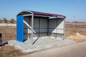 Установка автобусной остановки