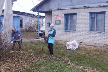 Уборка территории в с.Вязовка