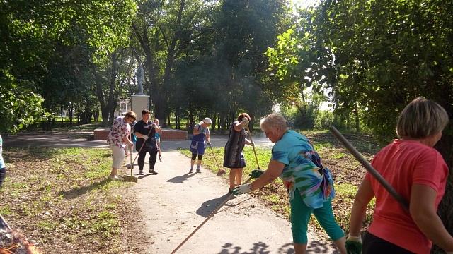 07 сентября 2019 года прошел экологический субботник на территории парка  с.Гвазда