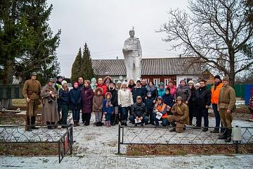 Поселок Мятлево встретил участников автопробега, посвященного Дню неизвестного солдата