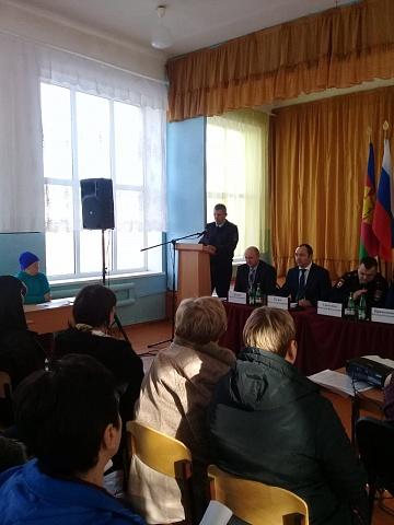 11 февраля прошла открытая сессия Совета Глебовского сельского поселения Кущевского района