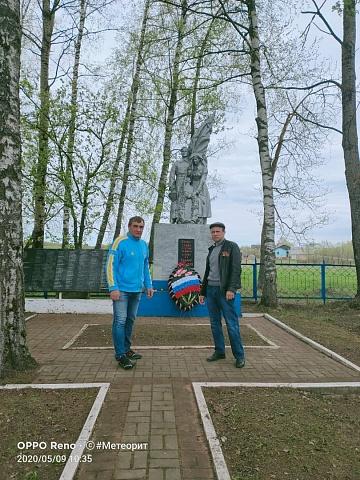 Возложение венков к братским захоронениям МО СП деревня Алексеевка