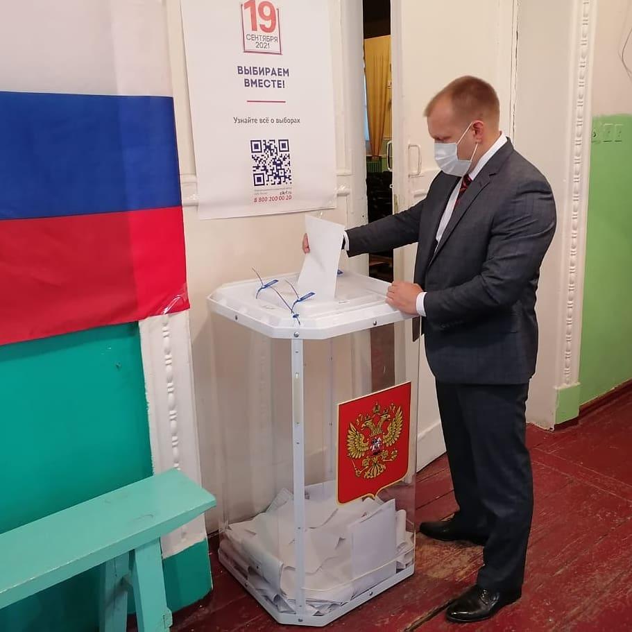 П.В. Чибисов проголосовал на выборах депутатов ГД РФ восьмого созыва