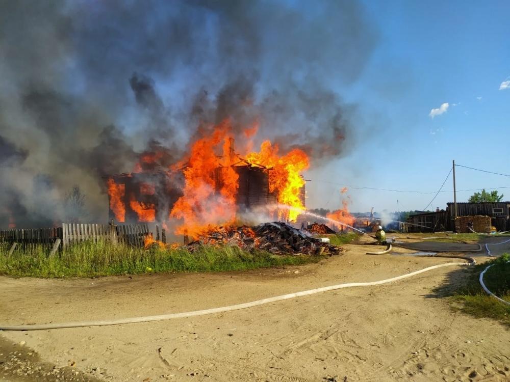 Обстановка с пожарами - июль