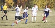Сборная по футболу Терновского района встретилась с одной из сильнейших юношеских команд области