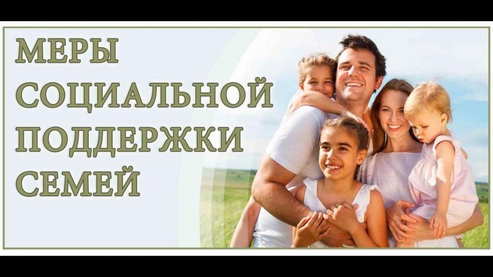 Меры социальной поддержки семей, имеющих несовершеннолетних детей